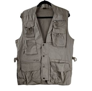 Vintage Medium Kodak photographer tan Utility vest